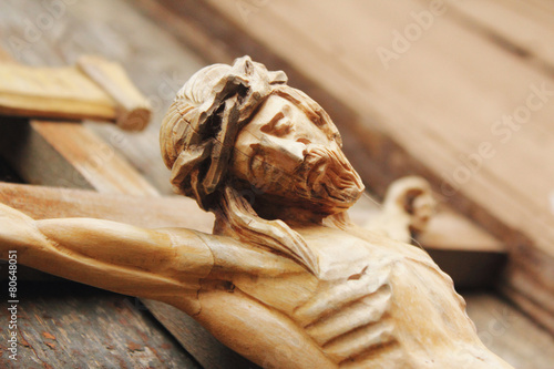 crucified Jesus Christ on the cross - 80648051