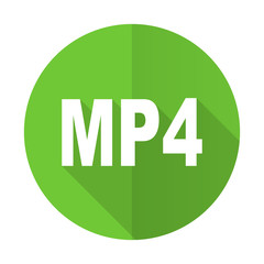 mp4 green flat icon