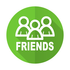 friends green flat icon