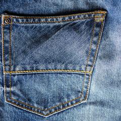 blue jeans back pocket