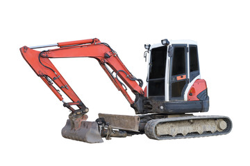 excavator isolated on a white background