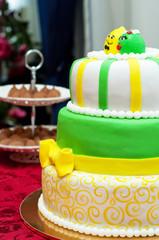 Wedding cake. Lemons
