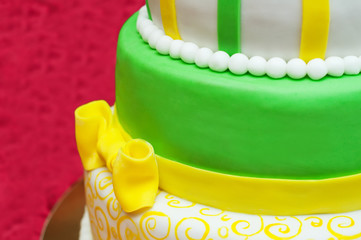 Wedding cake. Close-up