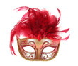 Leinwandbild Motiv Mask in Red and Gold