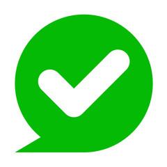 Icono simbolo verificacion