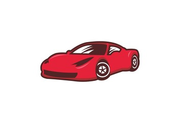 Simple Red Car