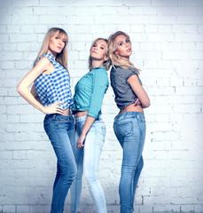 Three girls.