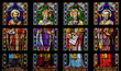 Постер, плакат: Latin Saints Stained Glass Window in Den Bosch Cathedral Nort