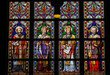 Постер, плакат: Latin Saints Stained Glass Window in Den Bosch Cathedral