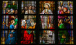 Stained Glass of Holy Communion in Den Bosch Cathedral - 80655452