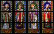 Постер, плакат: Stained Glass of Catholic Saints in Den Bosch Cathedral