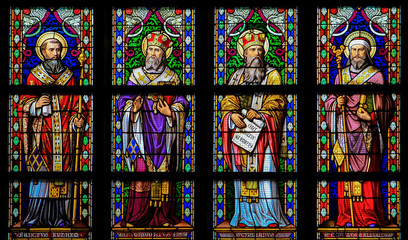 Latin Saints - Stained Glass Window in Den Bosch Cathedral, Nort