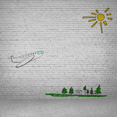 Cartoon of airplane