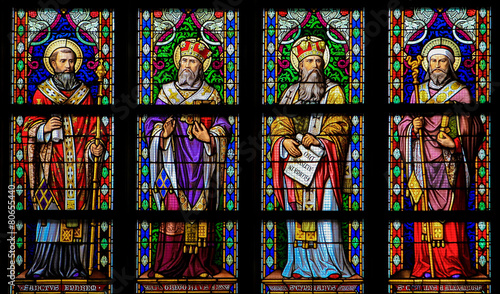 Latin Saints - Stained Glass Window in Den Bosch Cathedral, Nort - 80655440