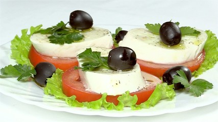 "Traditional Italian salad ""Caprese"""