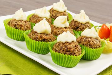meatballs cupcakes