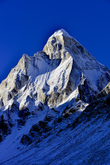dramatic Mount Shivling (6543 meters) in the western Garhwal
