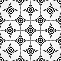 Seamless pattern made of spiky, pointed shapes