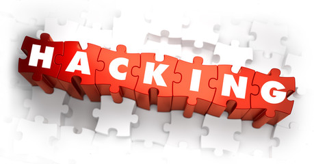 Hacking - Text on Red Puzzles.