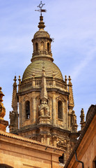 Stone Steeple New Salamanca Cathedral Spain