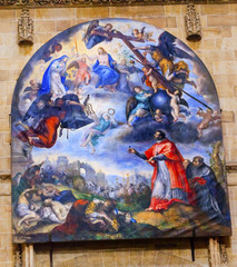 Jesus Mary Painting Gallego Old Salamanca Cathedral Spain