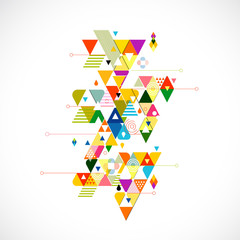 Abstract colorful and creative triangle background, vector