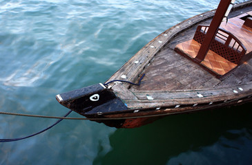 Traditional abra boat in Dubai, UAE