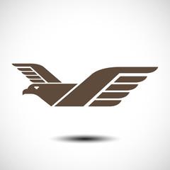 Eagle symbol. Vector illustration