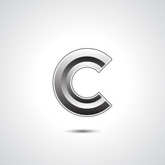 Abstract icon based on the letter C