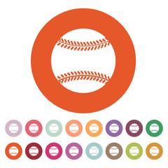 The baseball icon. Game symbol. Flat