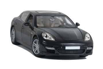 Black sport car Turbo