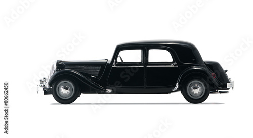 Foto op Aluminium Vintage cars Black retro car