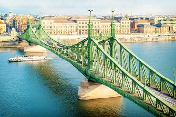 Liberty bridge Budapest Hungary
