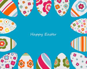 colorful easter eggs frame
