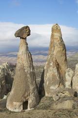 Скала-гриб в окрестностях Чавушина. Каппадокия, Турция