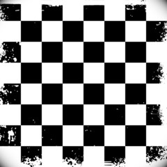 Checkered background with grungy edges