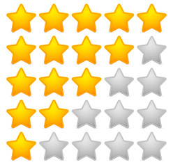Stylish star rating template