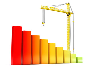 Hoisting Crane with Progress Bars