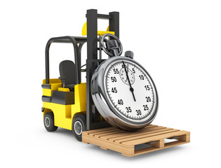 Forklift truck with Stopwatch