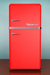 Old Style Photo. Retro refrigerator