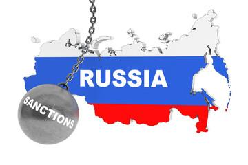 Sanctions Destroy Russia Concept