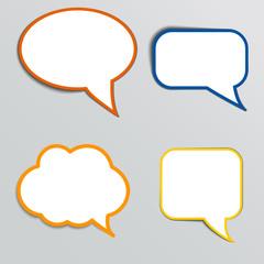 Stickers in form of speech bubbles.
