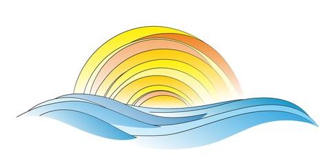 Sea and sun logo