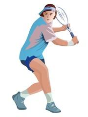 illustration tennis player