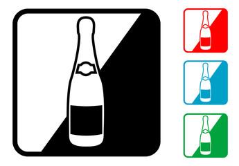 Icono simbolo champan en varios colores