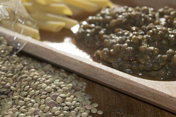 pasta and lentils