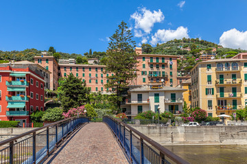 Houses in Recco, Italy.