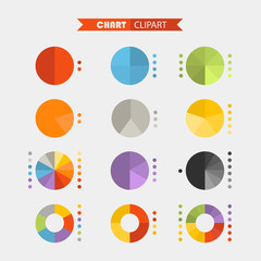 Graphic business ratings and charts .Flat infographic elements c
