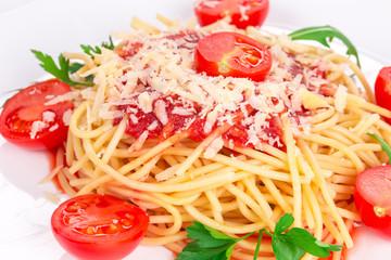 Spaghetti with tomato basil