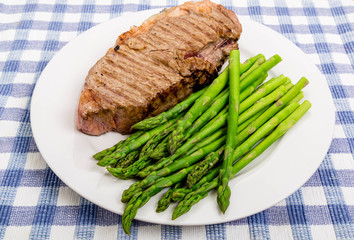 Strip Steak with Fresh Asparagus